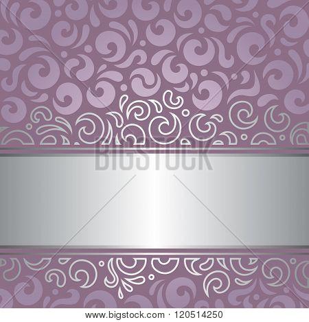 Decorative wedding violet vector background design
