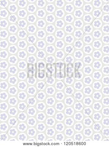 Purple flower pattern over gray color background