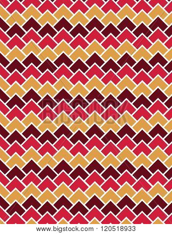 Red and orange square pattern over white background
