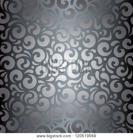 Silver shiny vintage background
