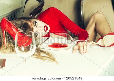 Fashionable Drunk Girl