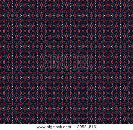 Seamless diamond pattern red blue gray