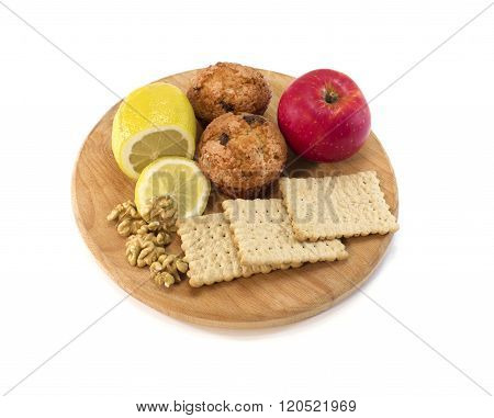 Food On Cutting Board