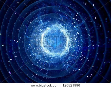 Gravitaional Wave Burst By Strong Force Field