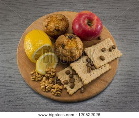 Health Food On Cutting Board