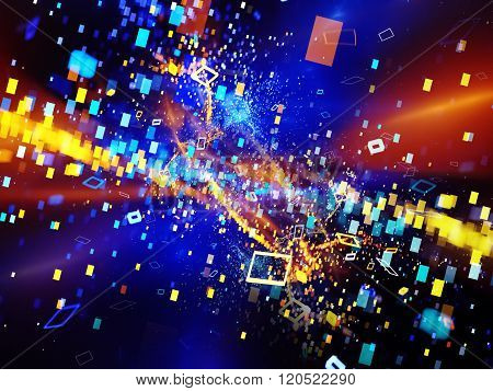 Colorful New Technology Explosion