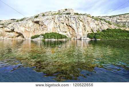 Vouliagmeni lake in Attica Greece - greek lake