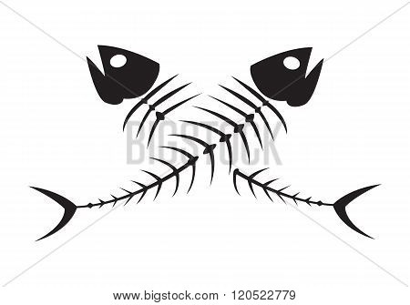 Graphic Black Fish bone, Vecter