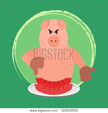 Angry Pig And No Sausage