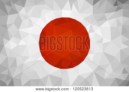 Japan triangulated flag