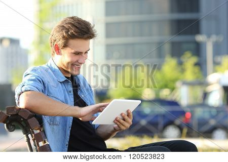 Entrepreneur Working With A Tablet