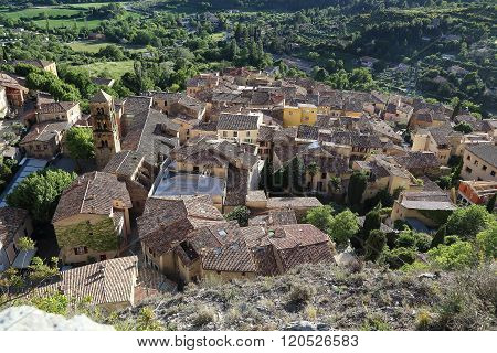 The Village Of Moustiers Sainte-marie, Provence, France.