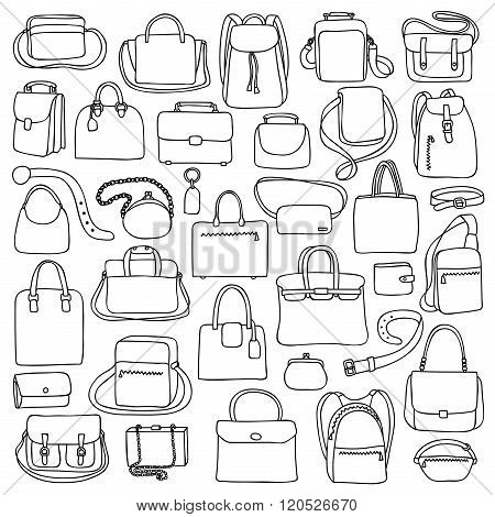 Woman and man bags set
