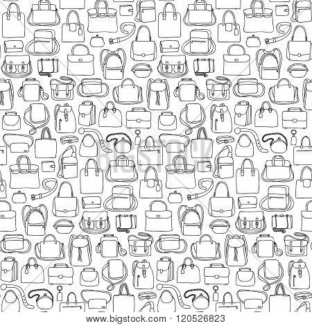 Seamless pattern with bags