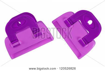 Clamps Isolated - Violet