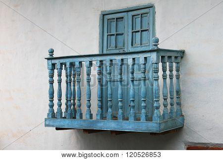 Blue Balcony In Peru
