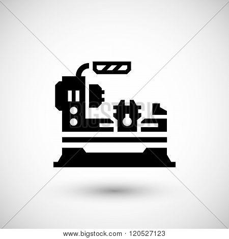 Lathe machine icon
