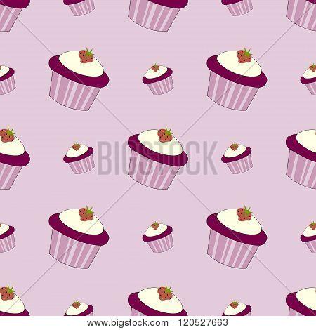 Cupcake Seamles Vector Illustration