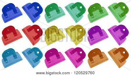 Clamps Isolated - Colorful