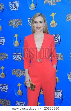 BURBANK - JUN 25: Amanda Schull at the 41st Annual Saturn Awards at The Castaway on June 25, 2015 in Burbank, California,