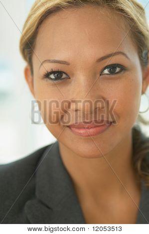 Close up portrait of businesswoman