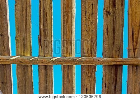 old cracked planks