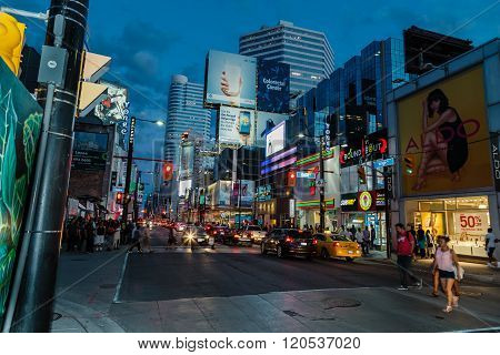 great  view of Toronto downtown night life view background