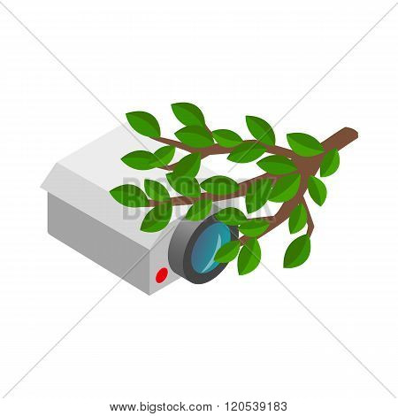 Camera hidden in the bushes icon