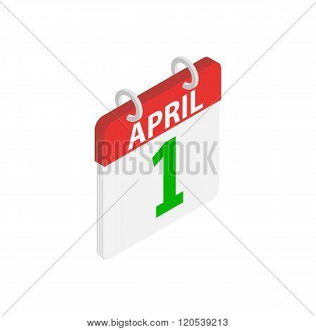 April 1, April Fools Day calendar icon