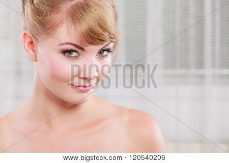 Portrait Of Blonde Beauty Woman