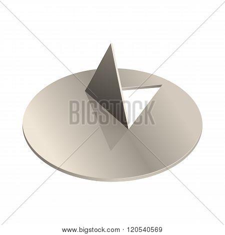 Metal pushpin icon, realistic style