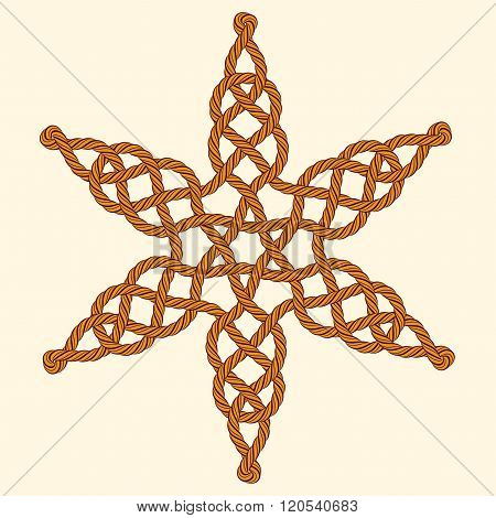 Rope Decorative Celtic Star Composition
