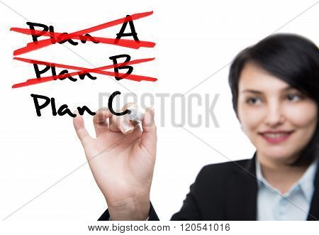 Business woman and plans