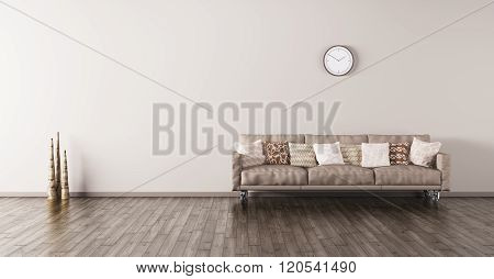 Modern Interior Of A Room With Sofa 3D Render