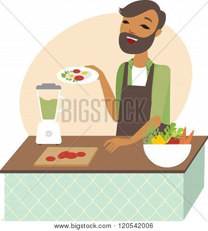 Man Preparing Lunch