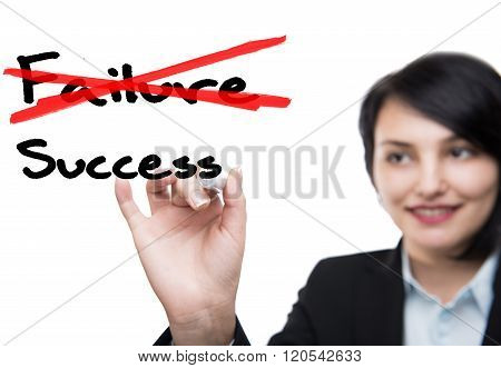 Businesswoman and Success