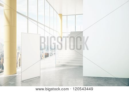 Business Interior With Whiteboard