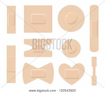 Set Of Medical Plasters