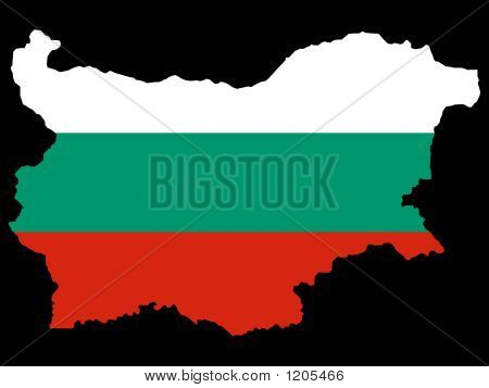 Map Of Bulgaria And Bulgarian Flag