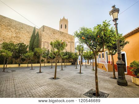 Parish Church Of Nuestra Senora De Las Nieves Is Located In The Heart Of Calpe Old Town.