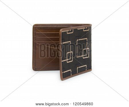 wallet isolated on the white background, men's wallet