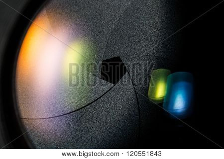Diaphragm Of A Camera Lens Aperture.