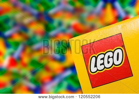 Illustrative Editorial Photo Of Logo Lego On The Box.