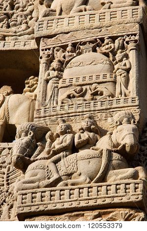 Carving On Gateway At Sanchi