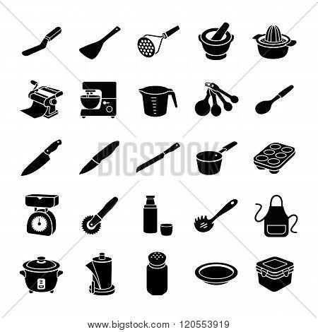 Kitchenware glyph vector icons