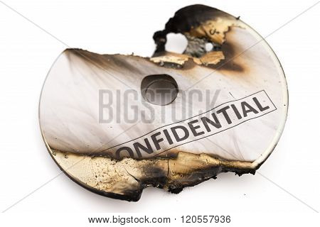 Burnt Out Confidential Cd On White With Clipping Path