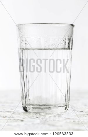 Glass Faceted Glass With Boiling Water