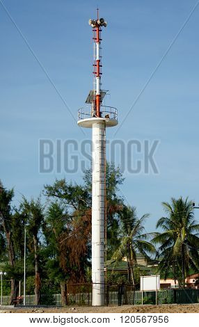 The Tsunami Warning Tower In Thailand