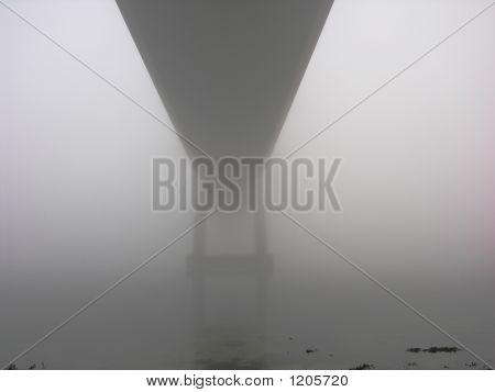 Foggy Suspension Bridge
