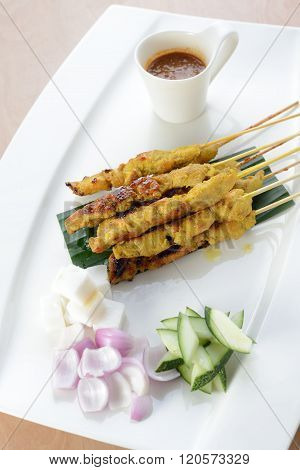Malaysia famous food chicken satay